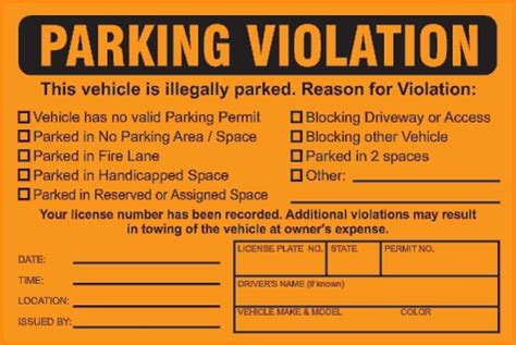 Parking Tickets Template Free Download Cheetah Template Parking Warning Notice Template