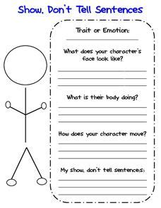 Show Don T Tell Worksheet by Show Don T Tell Sentences 1st 6th Grade Worksheet
