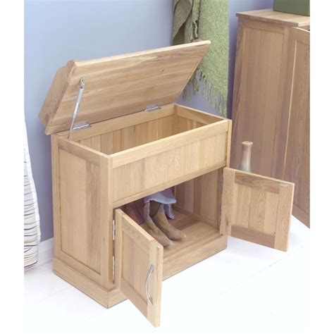 oak hall bench with storage mobel shoe bench rack storage cabinet solid oak hallway furniture ebay