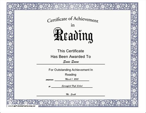 free templates for reading certificates young readers and second language learners can be