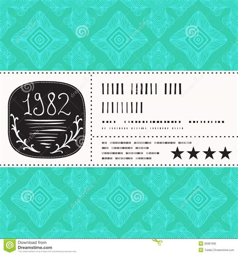 Vector Stylization Of Vintage Label Design Stock Vector Image 35987090 Perfume Label Design Templates