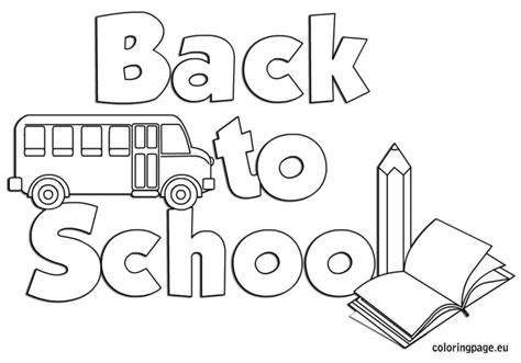 School Coloring Sheets Printable