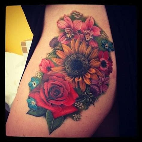 rose and sunflower tattoo 125 sunflower to brighten your day