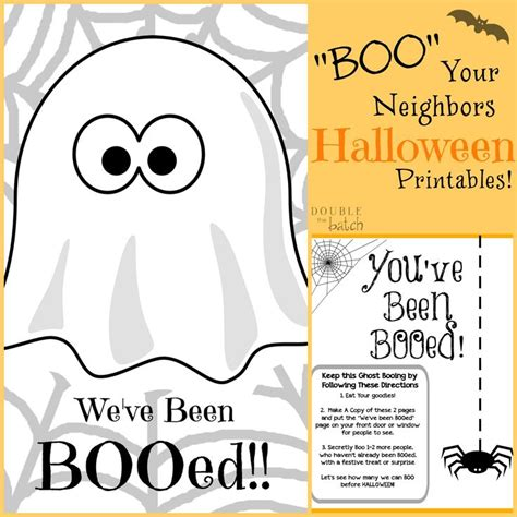 printable boo directions boo your neighbors halloween printables halloween
