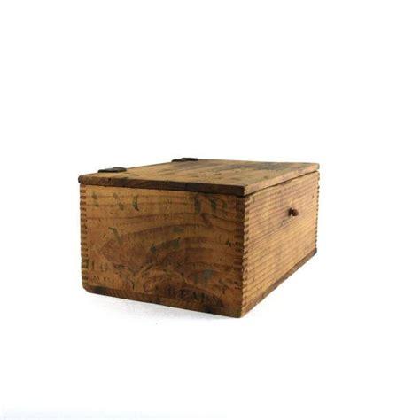 Handmade Hardware - antique folk handmade wooden hardware dresser box with