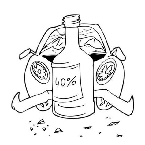 Imagenes Para Dibujar Sobre El Alcoholismo | choque por culpa del alcohol para pintar y colorear