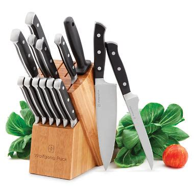 wolfgang puck kitchen knives wolfgang puck 15 piece cutlery set sam s club