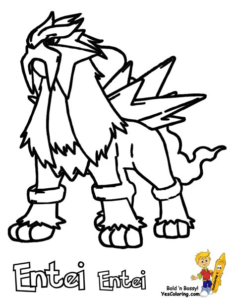 pokemon coloring pages raikou entei colouring pages
