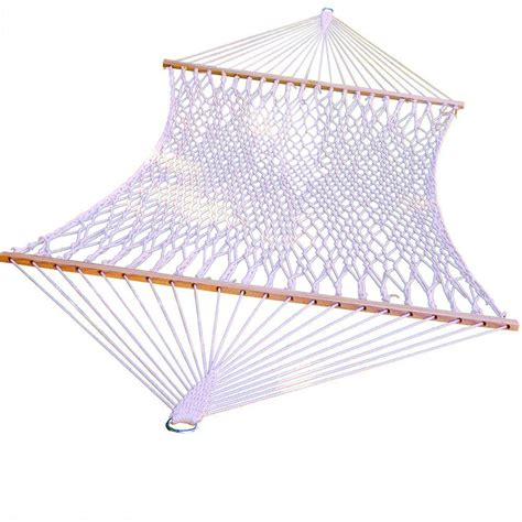 algoma 13 ft cotton rope hammock 4902c the home depot