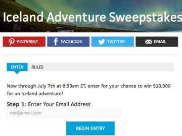 Travel Channel Sweepstakes Rules - travel channel iceland adventure sweepstakes