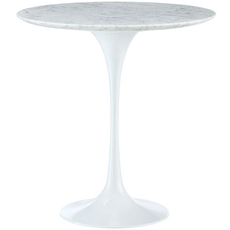 marble pedestal side table lippa 20 quot marble top side table with aluminum