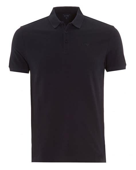 Plain Sleeve Polo Shirt armani mens polo shirt plain navy blue sleeve polo