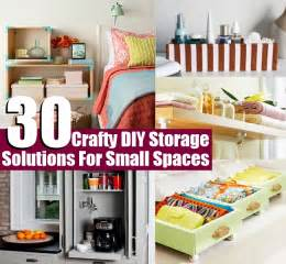 Solutions For Small Spaces 30 Crafty Diy Storage Solutions For Small Spaces