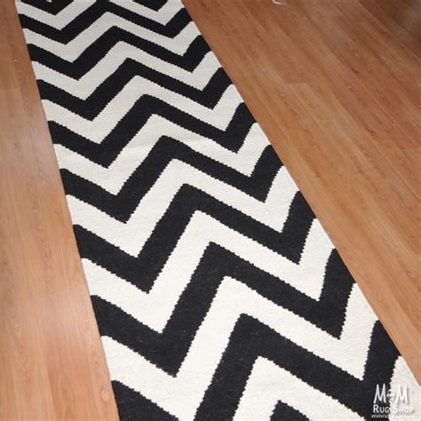 black and white chevron runner rug chevron bold runner black white flatweave runner