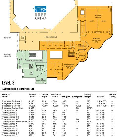 Rupp Arena Floor Plan lexington center floor plans