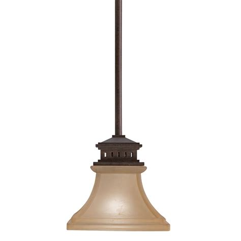 Bronze Mini Pendant Light Shop Allen Roth 6 5 In Tannery Bronze Vintage Mini Etched Glass Bell Pendant At Lowes