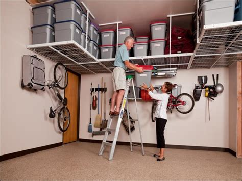 Ceiling Mounted Storage For Garage by Garage Organization Systems Ceiling Mounted Garage