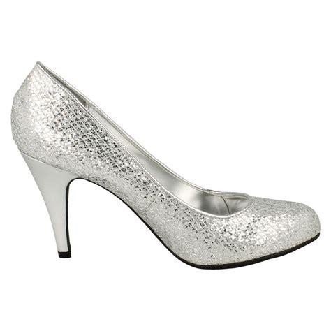 spot on formal glitter court shoes