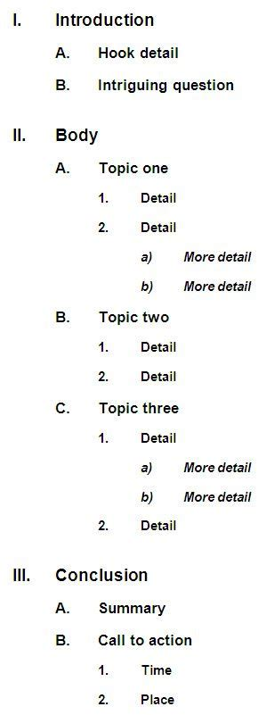 How Do You Make An Outline For A Research Paper - how to make an outline thank you needed an outline to