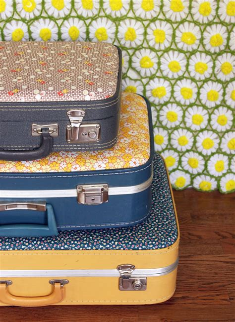 beautiful suitcases make your own floral suitcase a beautiful mess