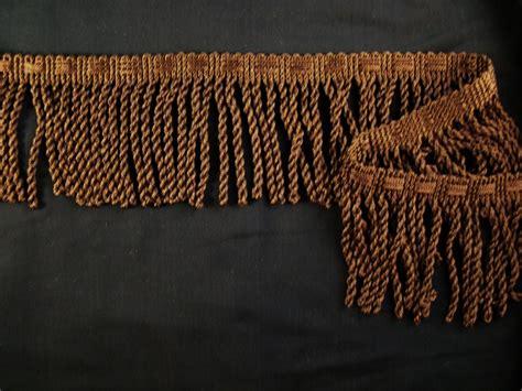 brown bullion fringe trim made in italy