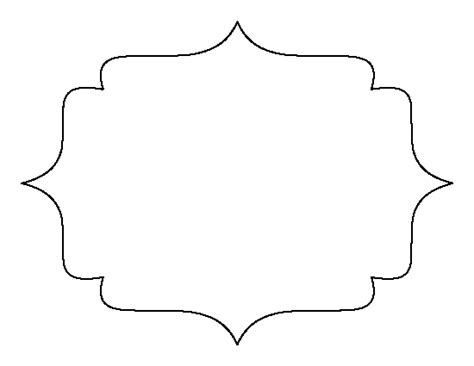 pattern frame template printable bracket frame template