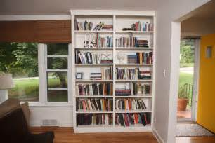white built in bookshelves diy projects