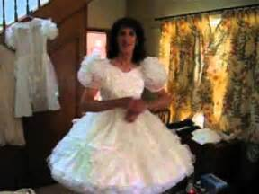 sissy little dress with ten petticoats youtube