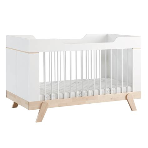 baby cot bed baby cot bed toddler bed in white and birch cots cot