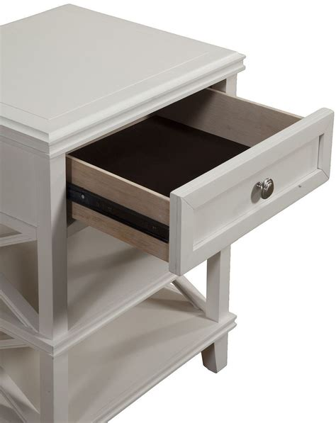 white one drawer nightstand potter white 1 drawer nightstand 955 02 alpine