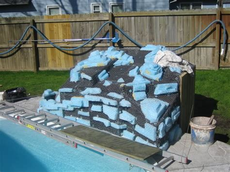 how to build a pool waterfall how to build a pool waterfall interior decor