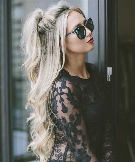Half Ponytail Hairstyles by 40 Easy And Chic Half Ponytails For Wavy And