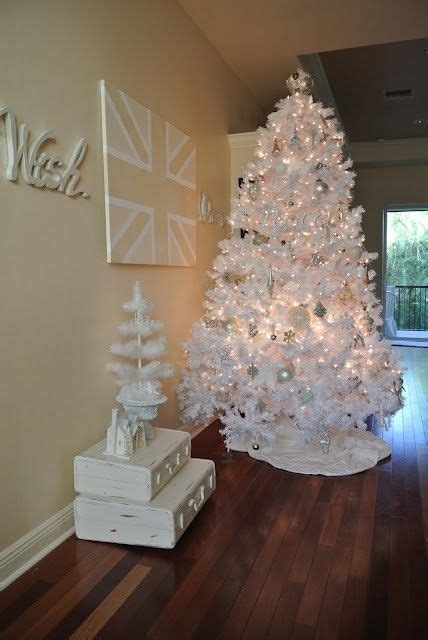 white christmas tree holiday ideas pinterest