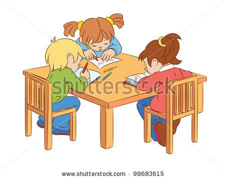 table clipart table work pencil and in color table