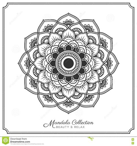 mandala tattoo template mandala tattoo design template vector illustratie
