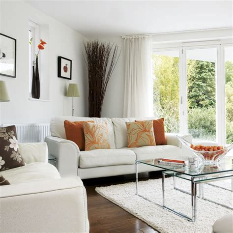 Living Room Decorating Ideas Orange Accents Sposoby Na Mały Salon