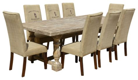 italian mango wood white dining table fabric upholstered