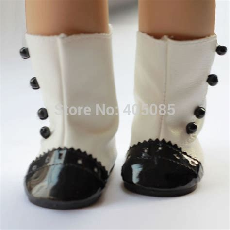 American Handmade Boots - white black doll shoes boots doll clothes for 18