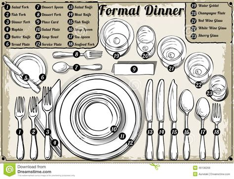 fancy place setting fancy dinner table clipart
