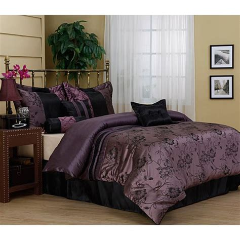 deep purple comforter sets harmonee lavender 7 piece comforter set purple comforter