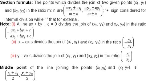 section formula section formula math formulas mathematics formulas