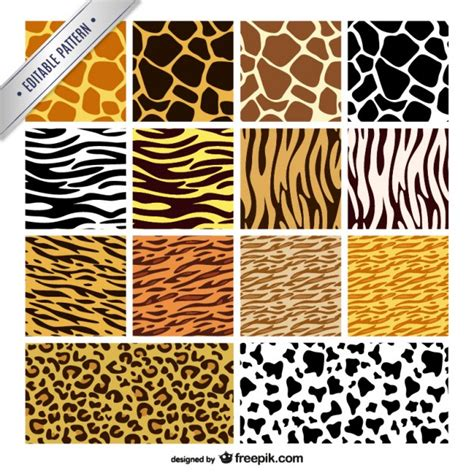 pattern animal vector animal print patterns collection vector free download