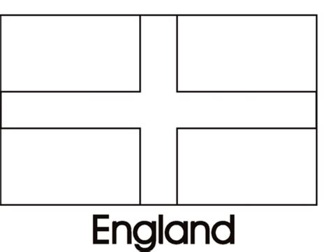 printable flags of the world black and white england flag coloring page free printable coloring pages