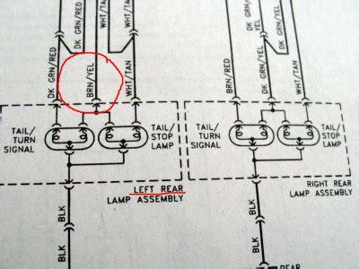 wiring diagram for rear lights 1998 dodge caravan 49