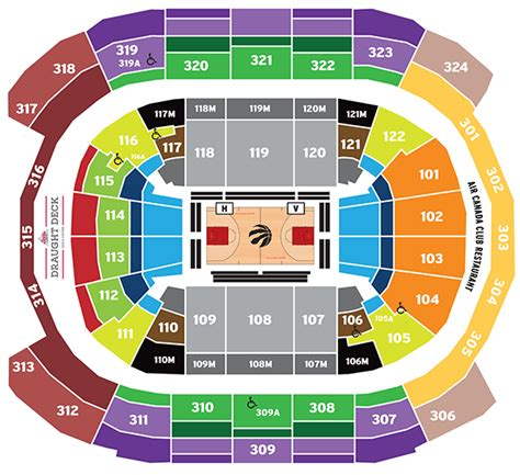 acc floor plan air canada centre seating map toronto raptors
