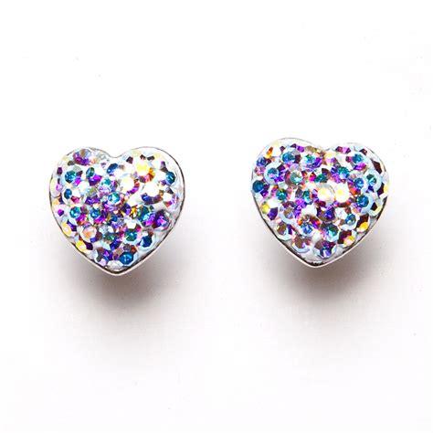 womens multi coloured diamante silver plated