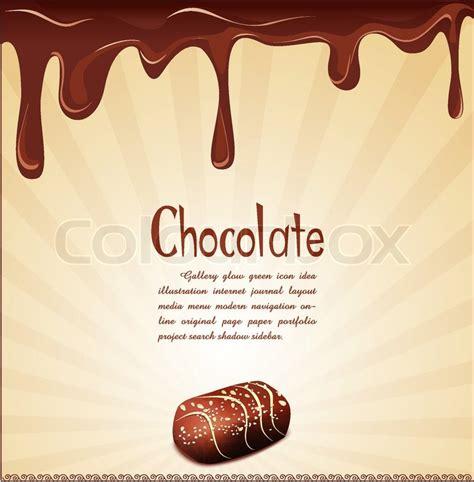 vector schokolade hintergrund vektorgrafik colourbox vector urlaub hintergrund mit schokolade s 252 223 igkeiten und