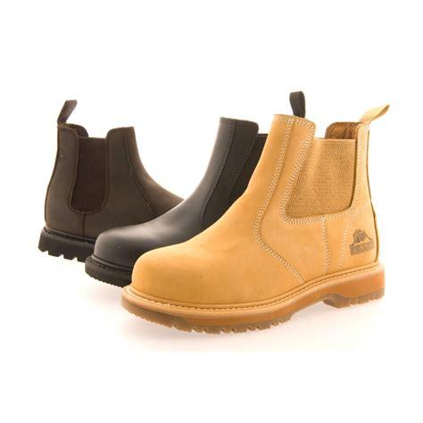 s gr20 safety chelsea boot black brown or honey
