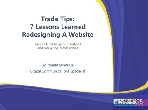 7 Lessons To Learn From Losing Your by 7 Lessons Learned Redesigning A Website