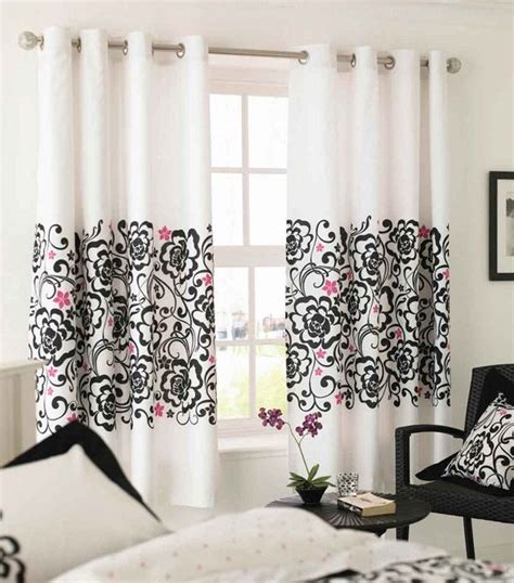Pink And Black Curtains Inspiration Black And Pink Patterned Curtains Decoist